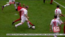 Ünlüler maçında Mustafa Varank'ın plase golü