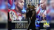 Anthony Joshua ve Jarrel Miller arasında gerginlik yaşandı