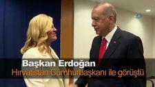 Erdoğan, Hırvatistan Cumhurbaşkanı ile görüştü