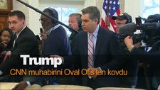 Trump, CNN muhabirini Oval Ofis'ten kovdu
