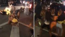 ABD'li kadınların sokak kavgası