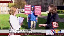 BBC'nin protestocu ile imtihanı