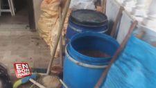 Tekirdağ'da bir ton 125 litre sahte içki ele geçirildi