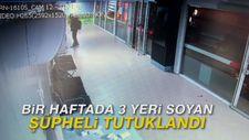 Bir haftada 3 yeri soyan şüpheli tutuklandı