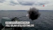Deniz Kuvvetleri Komutanlığı fiili silah atış eğitimleri