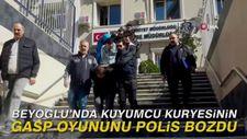 Beyoğlu'nda kuyumcu kuryesinin gasp oyununu polis bozdu