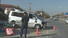 Denizli'de devrilen minibüsteki 1 kişi öldü, 4 kişi yaralandı