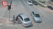 İki kadının ölümden döndüğü anlar kamerada