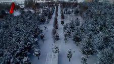Doğu'nun 'kış cenneti' havadan bir başka güzel