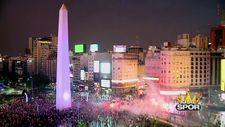 River Plate taraftarlarının Libertadores Kupası coşkusu