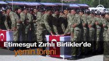 Etimesgut Zırhlı Birlikler'de yemin töreni
