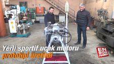 Yerli sportif uçak motoru prototipi üretildi