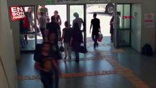 Terminal faresi önce kameraya sonra polise yakalandı