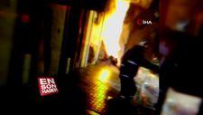 Bağcılar'da doğalgaz kaçağından yangın çıktı