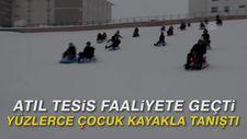 Atıl tesis faaliyete geçti, yüzlerce çocuk kayakla tanıştı