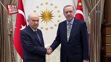 Başkan Erdoğan ile MHP lideri Bahçeli'nin görüşmesi