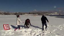'Kar tatili' eğlenceye dönüştü