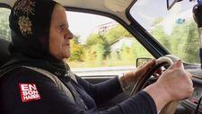 65 yaşındaki kadın sürücü erkek şoförlere taş çıkartıyor