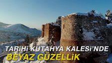 Tarihi Kütahya Kalesi'nde beyaz güzellik