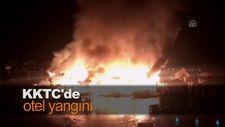 KKTC'de otel yangını