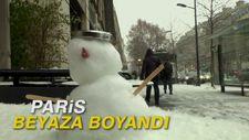 Paris beyaza boyandı