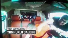 UBER sürücüsüne yumruklu saldırı