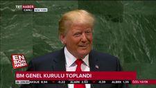 Trump'ın konuşması BM temsilcilerini güldürdü