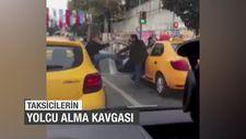 Taksicilerin yolcu alma kavgası