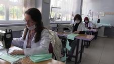 Ücretsiz dağıtılmak üzere 100 bin maskenin üretimine başlandı