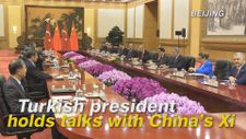 Turkish president holds talks with China's Xi
