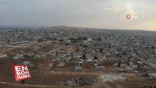 Ayn el Arab havadan görüntülendi