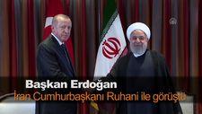 Başkan Erdoğan İran Cumhurbaşkanı Ruhani ile görüştü