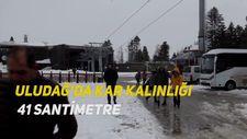 Uludağ'da kar kalınlığı 41 santimetre