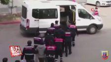 DEAŞ terör örgütü üyesi 9 şüpheli silah ve EYP'lerle yakalandı