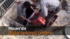 Hizan'da doğal pekmez üretimi