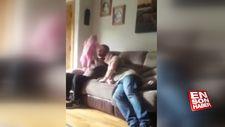 Dedeye yürek hoplatan bebek şakası