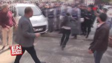 Polis kalkanına kafa atan HDP'li