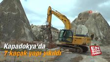 Kapadokya'da 7 kaçak yapı yıkıldı