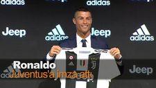 Ronaldo Juventus'a imza attı