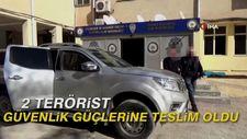 2 terörist güvenlik güçlerine teslim oldu