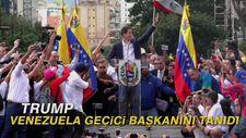 Trump, Venezuela geçici başkanını tanıdı
