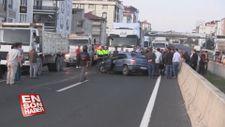 Tekirdağ'da otomobil park halindeki kamyona çarptı: 1'i ağır 3 yaralı