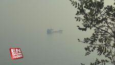 Şilep ve tankerler sis nedeniyle Tekirdağ sahiline demirledi