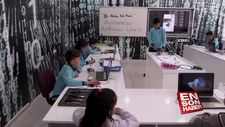 Köy okulunda robotik kodlama eğitimi