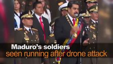 Maduro's soldiers seen running after drone attack