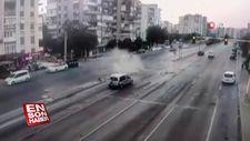 Şoka giren sürücü araçtan inip kaçtı