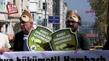 Almanya Başkonsolosluğu önünde orman protestosu