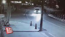 Muğla'da trafik kazası güvenlik kamerasınca kaydedildi