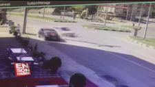 Bartın'da 'mucize' kurtuluş güvenlik kamerasında