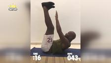 42 yaşındaki Drogba, 45 saniyede 122 mekik çekti